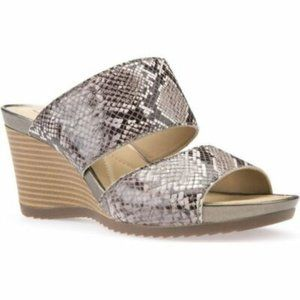 NWB Geox D Rorie C Slide Wedge Sandal Sz 10
